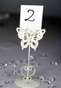 Butterfly Wedding Table Number Name Place Holders Vintage