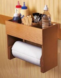 31-DP-00358 - Portable Glue and Paper Towel Center Downloadable Woodworking Plan PDF