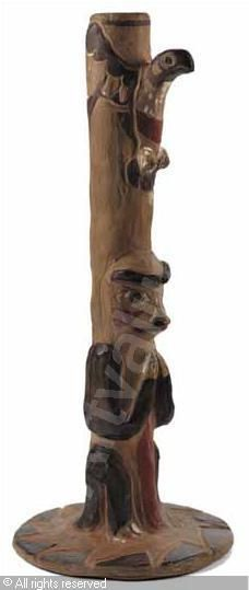 Klee Wyck Bird Stand Base / Lamp Base sold by Heffel Fine Art Auction House, Vancouver, on Wednesday, May 26, 2010