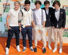 One Direction at the Kids Choice Awards 2012