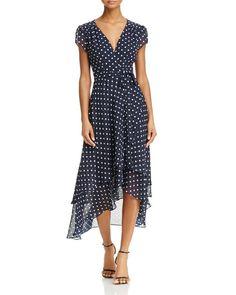 Betsey Johnson Polka Dot Wrap Dress