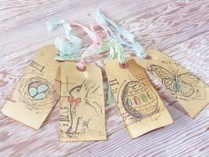 Lady jane twelve jane austen quote script and ruffle toppers handmade spring easter tags bunny butterfly nest egg set of negle Choice Image