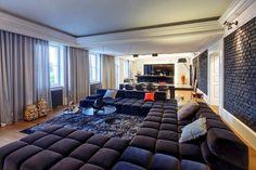 Simple Masculine lounge design/setup