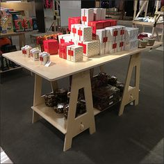 A Some Assembly Required Sawhorse Table enables easy creation of quick display space anywhere. Saw Horse Table, Industrial Chic, Nordstrom, Retail, Shop, Diy, Home Decor, Homemade Home Decor, Bricolage