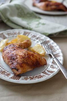5 spices and honey easy chicken roast. The perfect dish for a summer day, as it requires very little time in the kitchen. Amazing flavor!