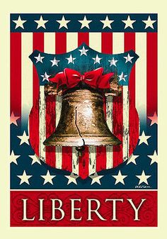 "Liberty Bell Patriotic Garden Flag Fourth of July Holiday 12.5"" x 18"""