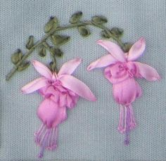 I ❤ ribbon embroidery . . . ~By River Silks Embroidery Designs, Ribbon Embroidery Tutorial, Silk Ribbon Embroidery, Crewel Embroidery, Embroidery Patterns, Embroidery Thread, Embroidery Tattoo, Machine Embroidery, Ribbon Art
