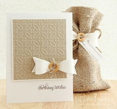 simple & elegant embossed card
