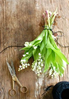simple but lovely lily of the valley arrangement