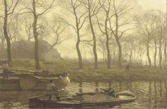 Willem Bastiaan Tholen - Aken op het kanaal te Scheveningen