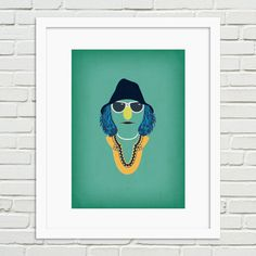 The Muppets Minimalist Poster Zoot  Vintage Retro by TheRetroInc, Vintage Retro Minimalist Style Poster Wall Art www.etsy.com/shop/TheRetroInc @The_Retro_Inc