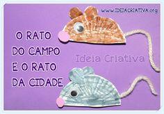 Atividade Fábula Rato do Campo e Rato da Cidade para Educação Infantil