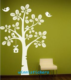 Vinyl Wall Decal Nature Design Tree Wall Decals Wall stickers Nursery wall decal wall art------birds and tree