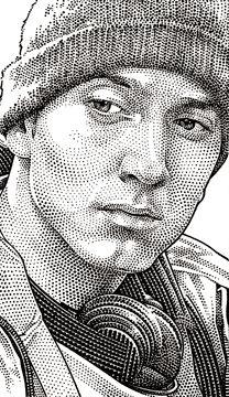 Wall Street Journal portrait (hedcut) of Eminem