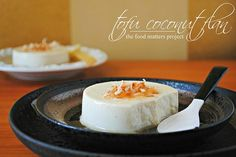 Tofu Coconut Flan - Vegan, Gluten Free - Tofu Coconut Flan A luscious flan made with tofu and coconut milk. Healthy, vegan, vegetarian, and gluten free. Go ahead, make it. As you may already know, we are busy creating FoodSniffr Food Lists for healthy, gluten free, vegan and vegetarian foods. It is a mammoth job, where we are mapping...