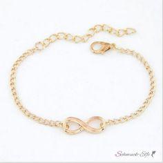 Armband Infinity  gold  im Organza Beutel