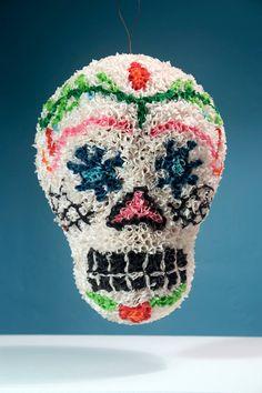 Handmade Sugar Skull Pinata - Day of the Dead - Original Design - Paper Mache. $275.00, via Etsy.