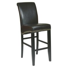 30 Parsons Pub Chair with Nailheads - Espresso