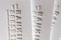 Letterpress Business Cards  Calling Cards  von invitedink auf Etsy