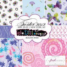 JoDitt Designs Surtex 2012 flyer - represented by A Fresh Bunch in booth #444 #surtex