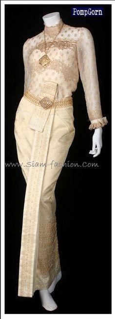Lace Thai wedding dress  siam-fashion.com