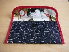 sashiko envelope inside by theelibrarian, via Flickr