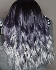 35 Best Smokey Grey Ombre Hair Colors for 2018 Ombre Hair Color, Ombre Hair Color, Hair Color Balayage, Cool Hair Color, Black Balayage, Black Ombre, Hair Highlights, Balayage Straight, Haircolor, Nice Hair Colors