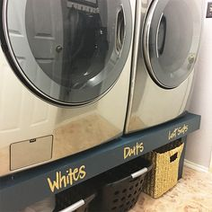 Laundry Room Pedestal- DIY with plans and instructions.