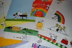 Papel de carta do Snoopy <3