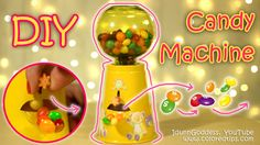 This is a video tutorial of how to make old fashioned Working Candy Dispenser or Candy Machine or Gumball Machine! My design let candies tumble out of the di...