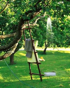 Nice idea to make for kids. They can play at taking their shower outside