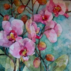 Flower watercolor painting.
