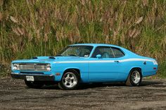 1970 Petty Blue Plymouth Duster by AAU-Mexico, via Flickr