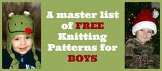 Free Knitting Patterns for Boys - Mom vs the Boys