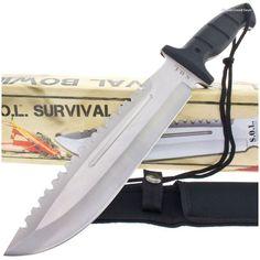 BK2011 S.O.L. (SOL) Survival Bowie Sawback Knife  | MooseCreekGear.com | Outdoor Gear — Worldwide Delivery! | Pocket Knives - Fixed Blade Knives - Folding Knives - Survival Gear - Tactical Gear