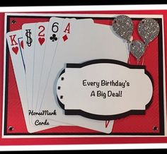 Birthday card created with cards