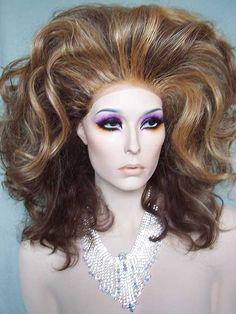 Drag Queen Wigs, drag, Big Hair, teased, Bee Hive, cross dressing, transvestite, RuPaul, female impersonator, Drag Race