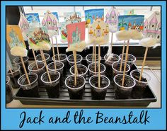 "After reading ""Jack and the Beanstalk"" students can grow their own beans. This would be a great way to incorporate science as well. Fairy Tale Activities, Classroom Activities, Book Activities, Eyfs Activities, Traditional Tales, Traditional Stories, Eyfs Jack And The Beanstalk, Chateau Moyen Age, Fairy Tales Unit"