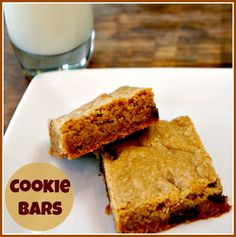 These #Cookie bars are great for a bake sale, to serve at parties or give as a yummy #gift