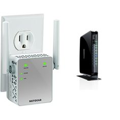 awesome NETGEAR N750 Dual Band Wi-Fi Gigabit Router (WNDR4300) and AC750 Wi-Fi Range Extender (EX3700-100NAS)