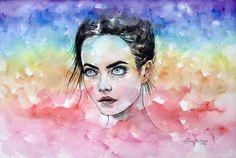 I saw a rainbow by ericadalmaso.deviantart.com on @DeviantArt