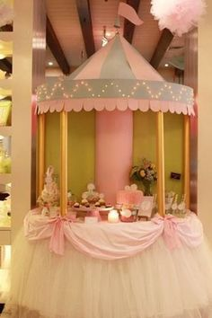 Carousel themed party. I think it would be so cute for a baby shower, especially since it's not an overused theme.