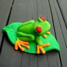 Sugar art frog