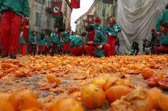 Carnival in Ivrea, Italy