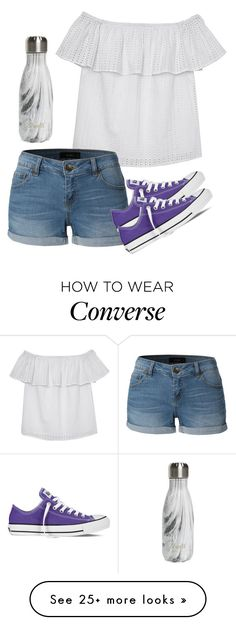 """Friends over"" by melw44 on Polyvore featuring Olive + Oak, LE3NO, Converse and S'well"