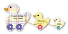 Duck Shower Invitation