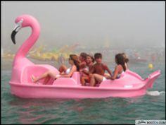pink 17: Flamingo Tretboot