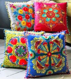 Colorful Turkish pillows- i have 2 in purple and turquoise, need bedding that they'll work well with
