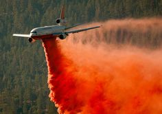 CFN - CALIFORNIA FIRE NEWS - CAL FIRE NEWS... This is a great web site for updates on the California fires.... I love this picture of the fire retardant being dropped on a fire. These type of planes are also being used to fight the Springs fire in Newbury Park. As well as helicopters and water dropping planes.