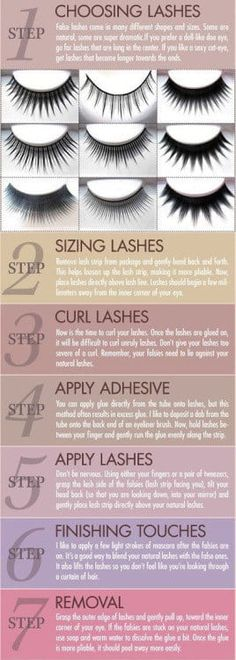 Using tweezers is the only way false eyelashes can really work.